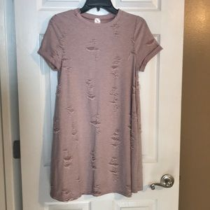 Distressed Tee-Shirt Dress HAS POCKETS!!!